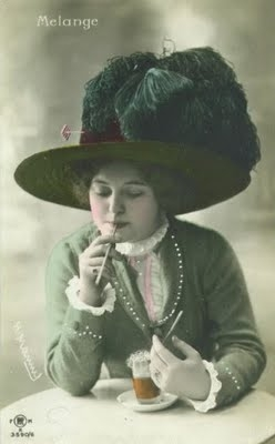 edwardian hat, edwardian beauty, edwardian postcard